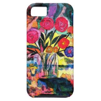 Dibujo de un florero con las flores iPhone 5 carcasa
