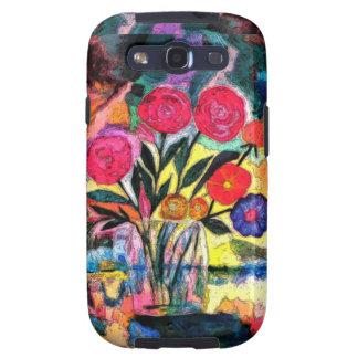 Dibujo de un florero con las flores galaxy SIII fundas
