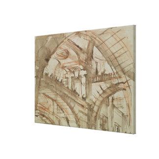 Dibujo de una prisión imaginaria lona estirada galerias
