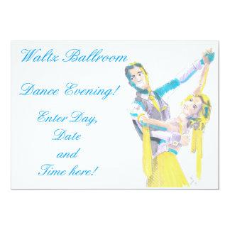 Dibujo de vals de los bailarines del salón de anuncios