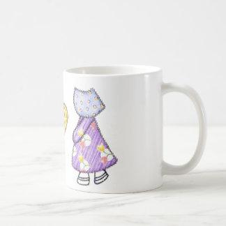 Dibujo del adorno de Sunbonnet que acolcha Sue Tazas De Café