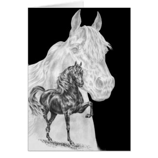 Dibujo del alcohol del caballo de Morgan por el ci Tarjeta De Felicitación