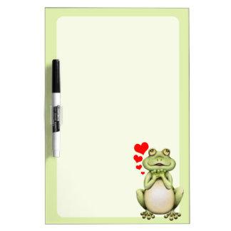 Dibujo del amor de la rana pizarra