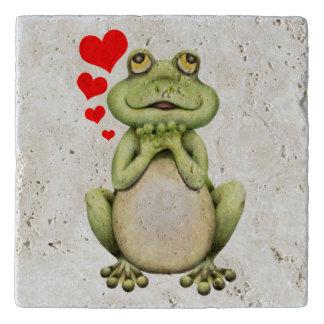 Dibujo del amor de la rana salvamanteles