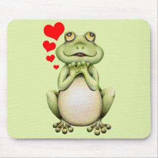 Dibujo del amor de la rana tapete de ratones