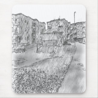 Dibujo del apartamento tapete de ratones