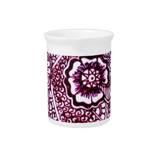 Dibujo del arte de la alheña jarra de beber