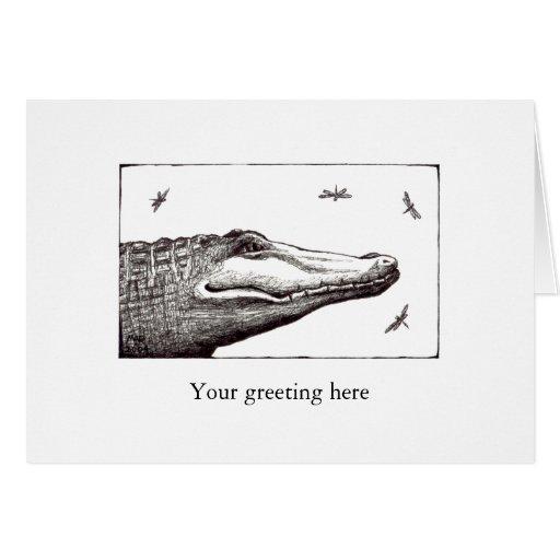 Dibujo del arte de la diversión de las libélulas d felicitaciones