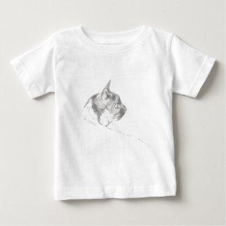 Dibujo del arte del lápiz del gato playera de bebé