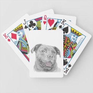 Dibujo del arte del pitbull baraja de cartas bicycle