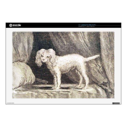 Dibujo del artista del vintage del perro lindo skins para 43,2cm portátiles