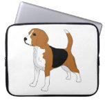 Dibujo del beagle fundas ordendadores
