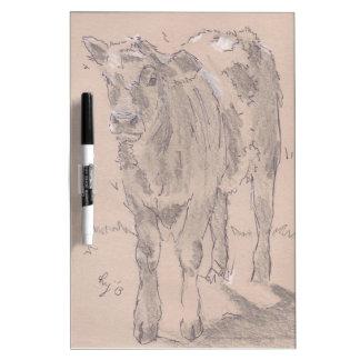 Dibujo del becerro pizarras blancas de calidad
