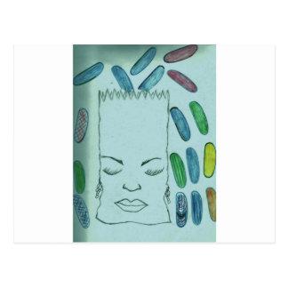 Dibujo del bolso de basura del Jellybean Tarjeta Postal