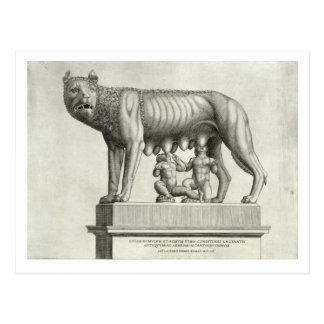 Dibujo del bronce de Etruscan del suc del Postal