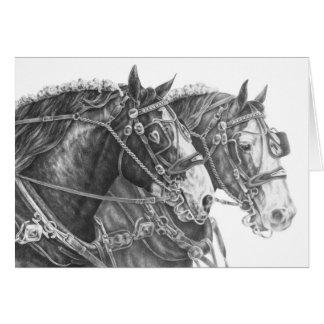 Dibujo del caballo de proyecto de Clydesdale por e Tarjeta De Felicitación