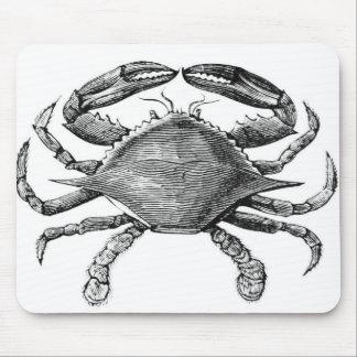 Dibujo del cangrejo del vintage mouse pads