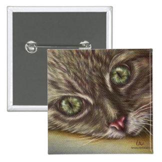 Dibujo del cierre del gato para arriba en el botón pins
