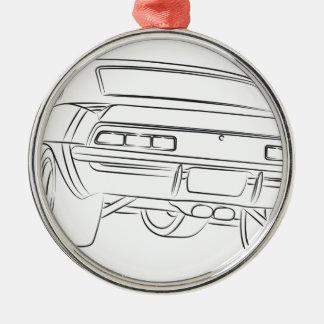 Dibujo del coche del músculo adorno