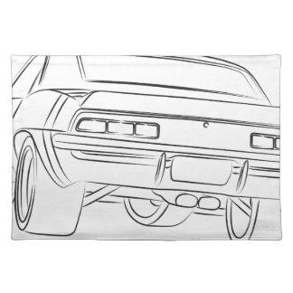 Dibujo del coche del músculo manteles