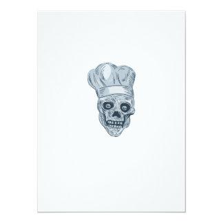 """Dibujo del cocinero del cocinero del cráneo invitación 5.5"""" x 7.5"""""""