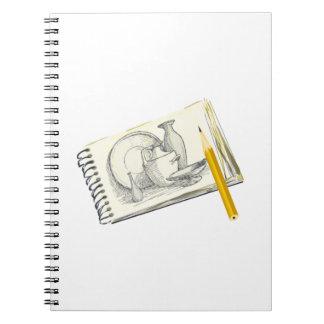 Dibujo del cojín de bosquejo spiral notebooks