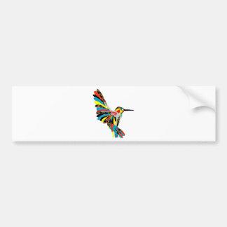 dibujo del colibrí pegatina de parachoque