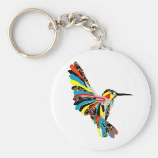 dibujo del colibrí llavero redondo tipo pin