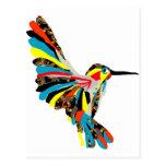 dibujo del colibrí postal