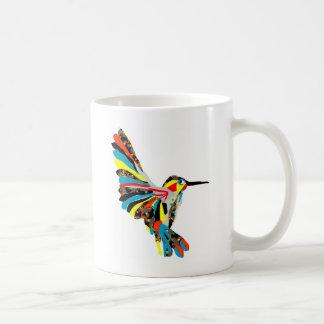dibujo del colibrí taza de café