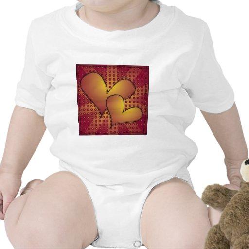 Dibujo del corazón trajes de bebé