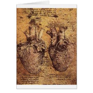 Dibujo del corazón y de sus vasos sanguíneos felicitación