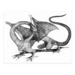Dibujo del dragón postales