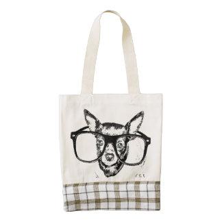 Dibujo del ejemplo del perro de la chihuahua bolsa tote zazzle HEART
