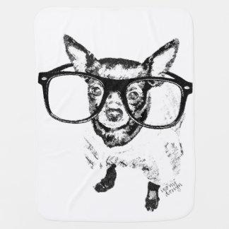 Dibujo del ejemplo del perro de la chihuahua mantita para bebé