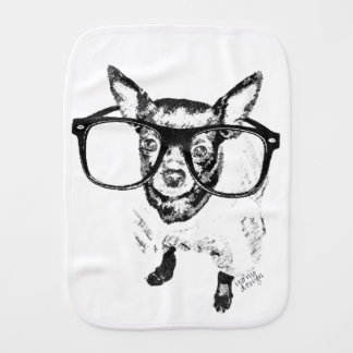 Dibujo del ejemplo del perro de la chihuahua paños de bebé