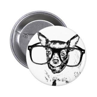 Dibujo del ejemplo del perro de la chihuahua pin redondo de 2 pulgadas