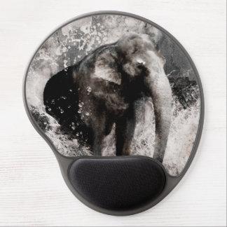 Dibujo del elefante del vintage - arte de la pintu alfombrillas de ratón con gel