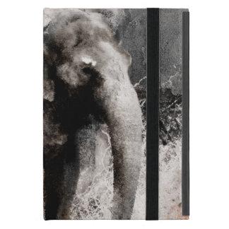 Dibujo del elefante del vintage - arte de la pintu iPad mini carcasas