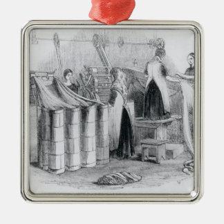 Dibujo del estambre dentro de las astillas adorno de navidad