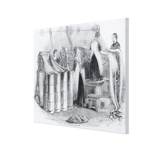 Dibujo del estambre dentro de las astillas lona estirada galerias