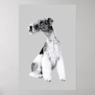 Dibujo del fox terrier póster