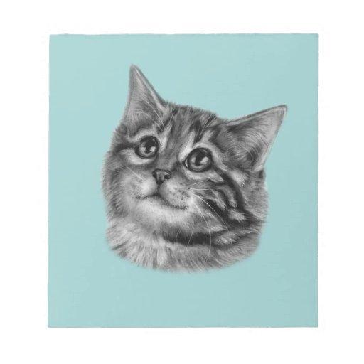 Dibujo del gatito blocs de papel