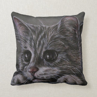 Dibujo del gatito en la almohada