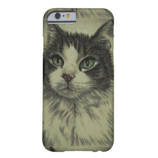 Dibujo del gato con la nariz roja en la caja del funda para iPhone 6 barely there
