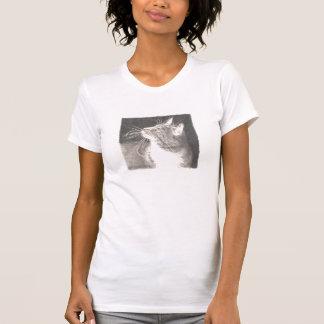 Dibujo del gato camiseta