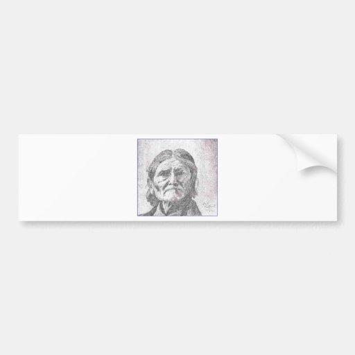 dibujo del geronimo pencil.PNG Geronimo Pegatina De Parachoque