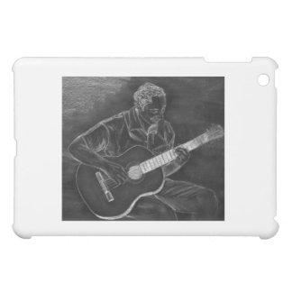 Dibujo del guitarrista, blanco en la versión negra