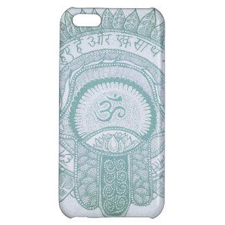 dibujo del hippie del loto del zen de OM del hamsa