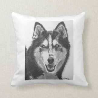 Dibujo del husky siberiano almohada